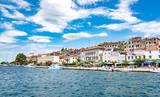 Quay of the city of Sibenik, tourist attraction of Croatia. - 242369544