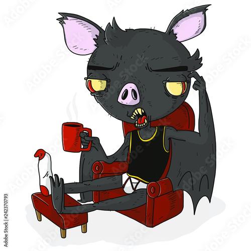 murciélago en descanso   - 242370793