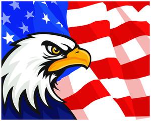USA Eagle Background Flag