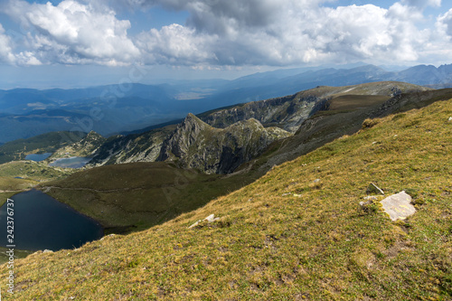 Summer view of Rila Mountan near The Seven Rila Lakes, Bulgaria - 242376737