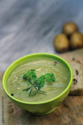 Foto Murales soupe de légume vert