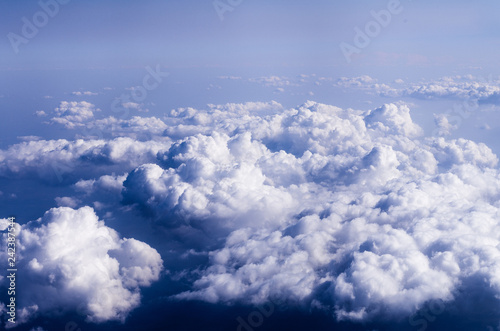 Clouds. The view from the plane - 242387544