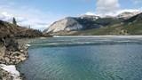Ice melting on a lake - 242387957