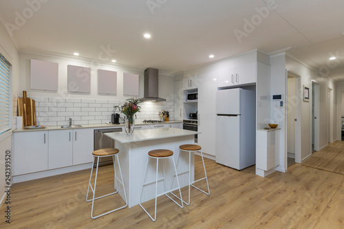 Leinwandbild Motiv Stylish Australian kitchen interior
