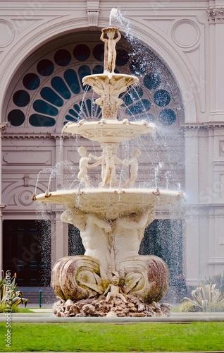 メルボルンの公園にある噴水