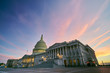 US Capitol Building Colorful Sunset