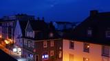 Little city skyline at sunrise. Time lapse. - 242403366