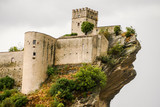 Ancient castle of Roccascalegna sited on a rocky headland Abruzzo Italy - 242409721