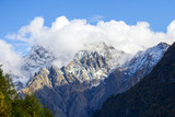 mountains, rocks, clouds, autumn, North Ossetia