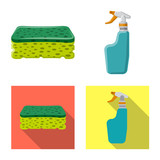 Vector illustration of cleaning and service icon. Collection of cleaning and household stock vector illustration. - 242422363