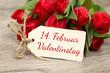 Leinwandbild Motiv 14. Februar Valentinstag