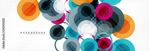 Circle composition abstract background © antishock