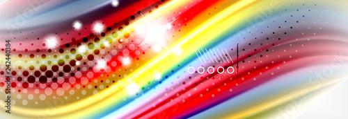 Smooth liquid blur wave background, color flow concept, illustration