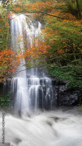 Leinwanddruck Bild Autumn Yunshen waterfall in New Taipei City Sanxia District, New Taipei City, Taiwan