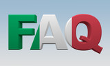 letters FAQ painted flag Italy
