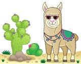 Llama with sunglasses theme image 3 - 242445339