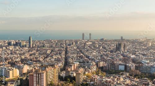obraz lub plakat Skyline von Barcelona Spanien Europa