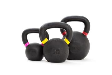 Three kettlebell weights © wabeno