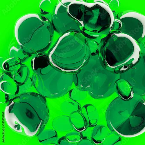 Green glass fruits - 242450709