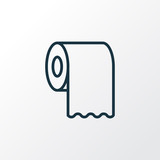 Toilet paper icon line symbol. Premium quality isolated tissue roll element in trendy style. - 242452742