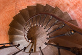 Spiral staircase top view - 242459131