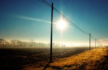 veduta rurale della campagna invernale © Giuseppe Porzani