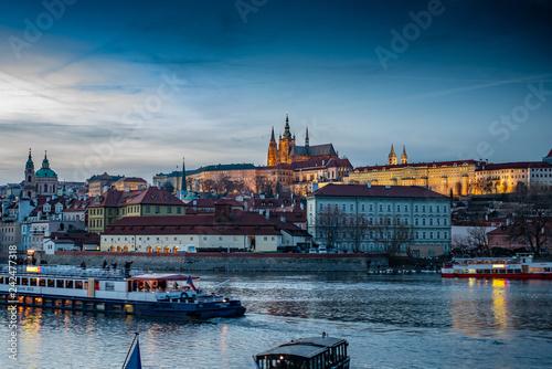 obraz PCV Prague castle at night