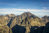 View from Rysy on Gerlach and other peaks of the Slovak High Tatras.