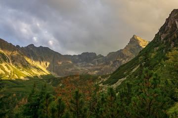 Autumn view of the High Tatra Mountains in Poland.