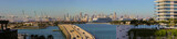 Panoramic photo Miami view of Port and Downtown