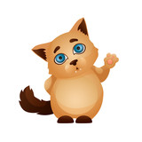 Cartoon character pet. The cat emotion icon