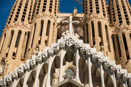 obraz lub plakat The Facade of the Sagrada Familia, the most iconic landmark in Barcelona