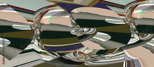 Color abstract and art illustration in the design of the internal positive - 242517902