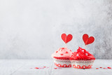 Delicious Valentine's day cupcakes - 242519931