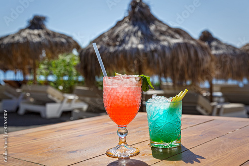 Two striking beach cocktail