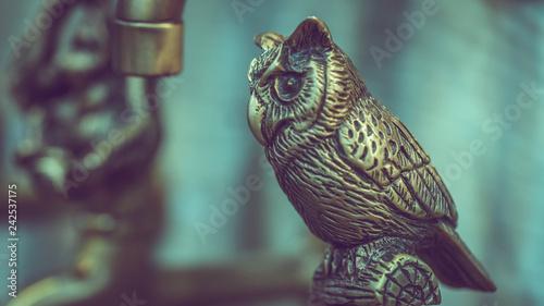 Antique Carved Owl