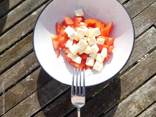Tomaten Schafskäse Salat - 242545993