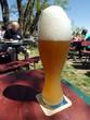 canvas print picture - Weißbier auf dem Bierkelle in Franken