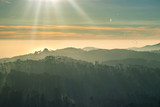 Beautiful sunset over the Sintra mountains, Portugal