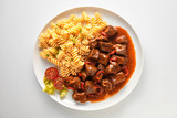 Wild venison stew or goulash with boar and deer - 242553162