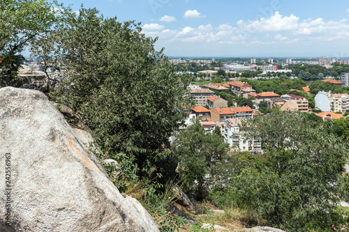 obraz lub plakat Panoramic view of city Plovdiv from Nebet Tepe hill, Bulgaria