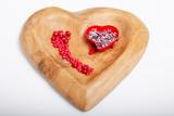 Holzherzschale für Valentinstag