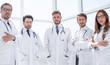 Leinwanddruck Bild - portrait of a group of doctors of the medical center
