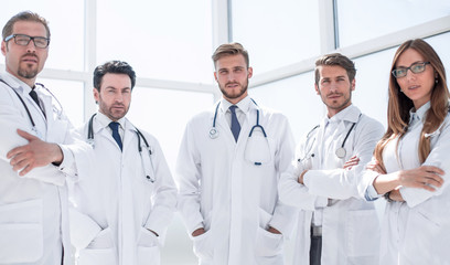 portrait of a group of doctors of the medical center