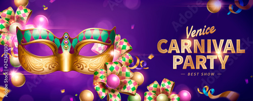 Venice Carnival party banner