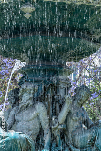 Rossio Square Fountian Isolated Figures