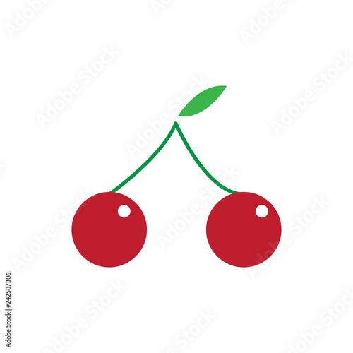 cherry flat icon. colored vector design illustration