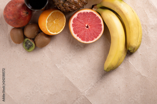 asian fruits for coktails and smoothie, place for text - 242588572