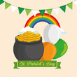 st patrick day celebration with traditional decoration