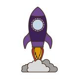 flying rocket isolated icon - 242595185